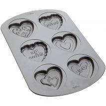Molde aluminio antiadherente galletas x 6 cav Cora