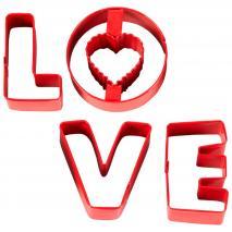 Set 4 talladors galetes LOVE
