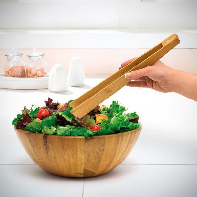 Pinza de cocina bambú 30 cm