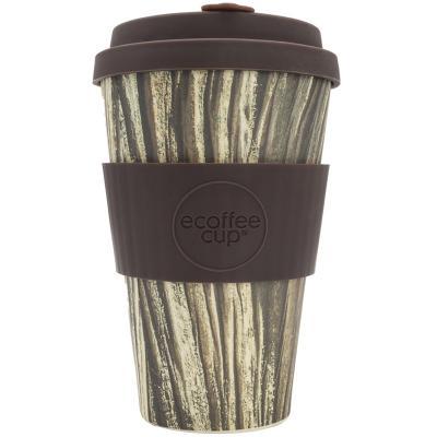 Taza bambú con tapa Ecoffee 400 ml Baumrinde