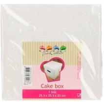 Caja para pasteles blanca 25x27x25 cm