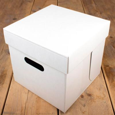 Caja para pasteles blanca 25x25x25 cm