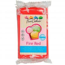 Fondant FunCakes 250 g fire red rojo