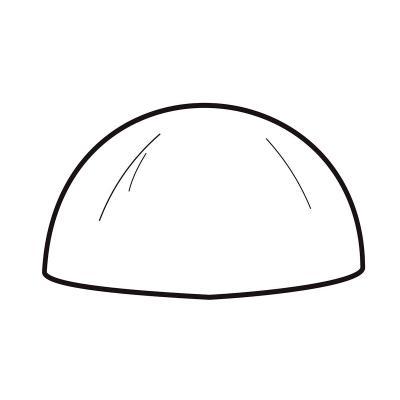 Mona pascua semiesfera 1,5 cm