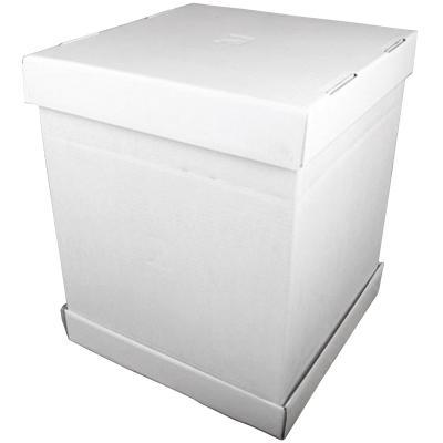 Caja para pasteles blanca 37x37x45 cm
