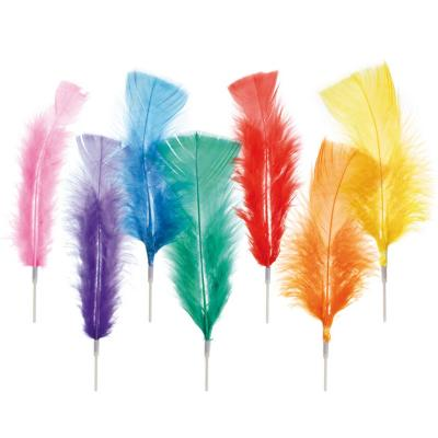 Set 10 plumas Pascua colores 23 cm