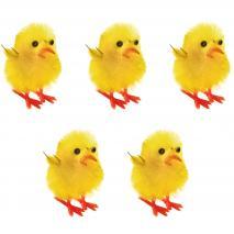 Set 5 pollitos amarillos Pascua 25 mm