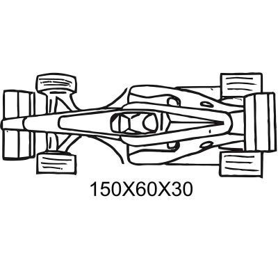 Mona pascua Fórmula 1 simple 15x6x3 cm