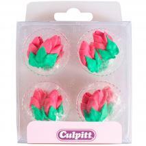 Set 12 decoraciones de azúcar Rosas