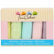 Set 5 fondants Funcakes 5x100 gr Pastel