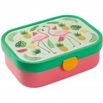 Fiambrera mitjana Lunchbox tropical flamingo