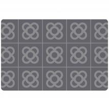 Individual pvc acolchado Eixample gris