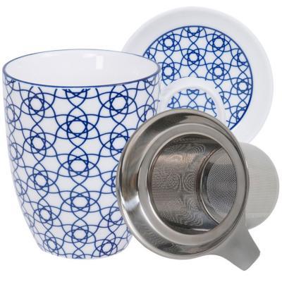 Set mug con filtro Nippon Blue nubes