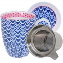 Set mug te amb filtre i tapa Wave