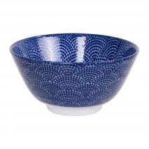 Bol arroz japonés Nippon Blue dots 12 cm