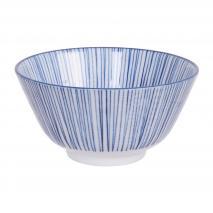 Bol arroz japonés Nippon Blue línea 12 cm