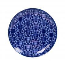 Plat Nippon Blue dots 16 cm