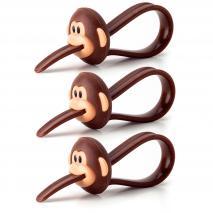Set 3 pinzas cierra bolsas Monkey