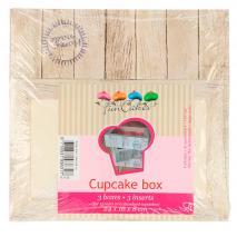 Set 3 caixes cupcakes Pure 24x16
