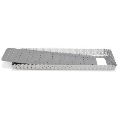 Molde rectangular ranurado 35x11 cm