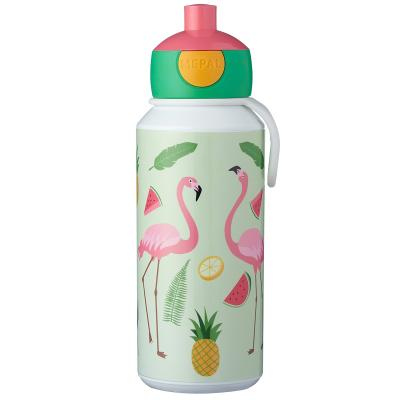 Botella pop-up 400 ml tropical flamenco