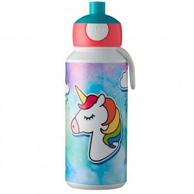 Botella pop-up 400 ml unicornio