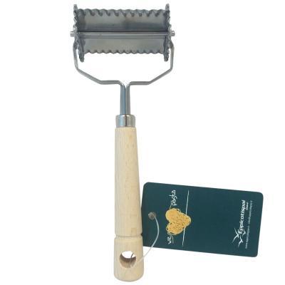 Rodillo cortador Tortellini dentado inox 4x4 cm