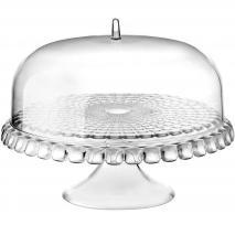 Expositor pasteles alzado con campana Tiffany