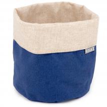 Panera pequeña Vintage lino Azul