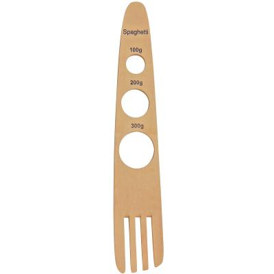 Medidor spaguetti con tenedor madera 29 cm