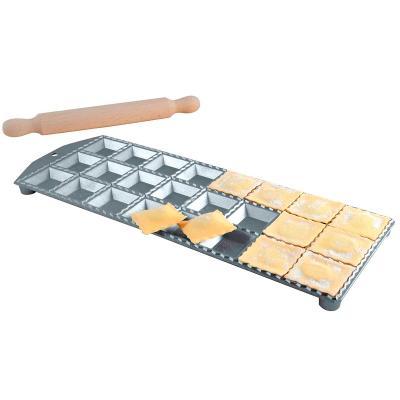 Placa 24 raviolis cuadrados 4,7x4,7  con rodillo