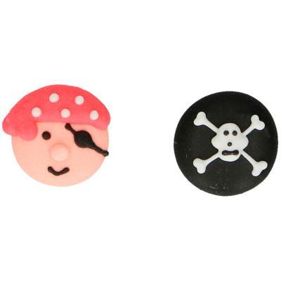 Set 8 decoraciones de azúcar Piratas
