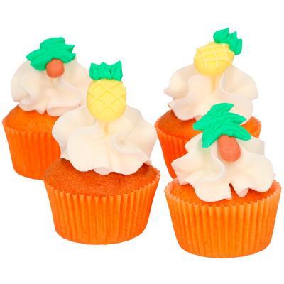 Set 8 decoraciones de azúcar Piñas y Palmeras