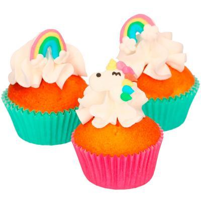 Set 8 decoraciones de azúcar Unicornio y Arcoiris