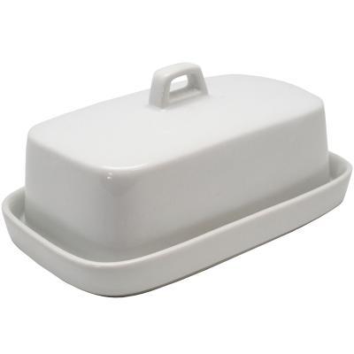Mantequera de porcelana con tapa