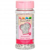 Sprinkles nonpareils 80 g plata y blanco