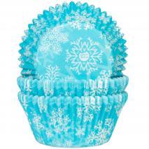 Paper cupcakes blau cristal·lí i neu 50 unitats