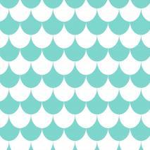 Mantel resinado 140x140 Studio Olas grande azul