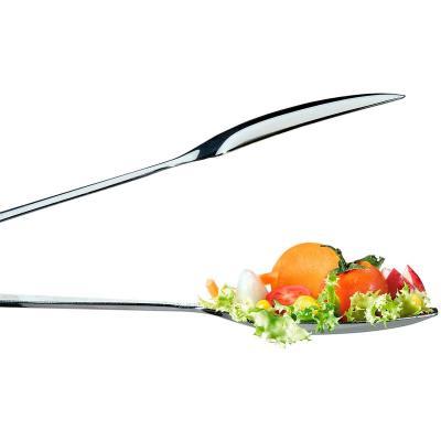 Pinza para servir planas acero inox 23 cm