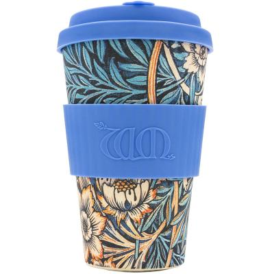 Taza bambú tapa Ecoffee WM 400 ml Lily