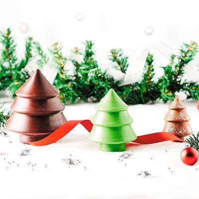 Set 3 moldes medio árbol navidad chocolate