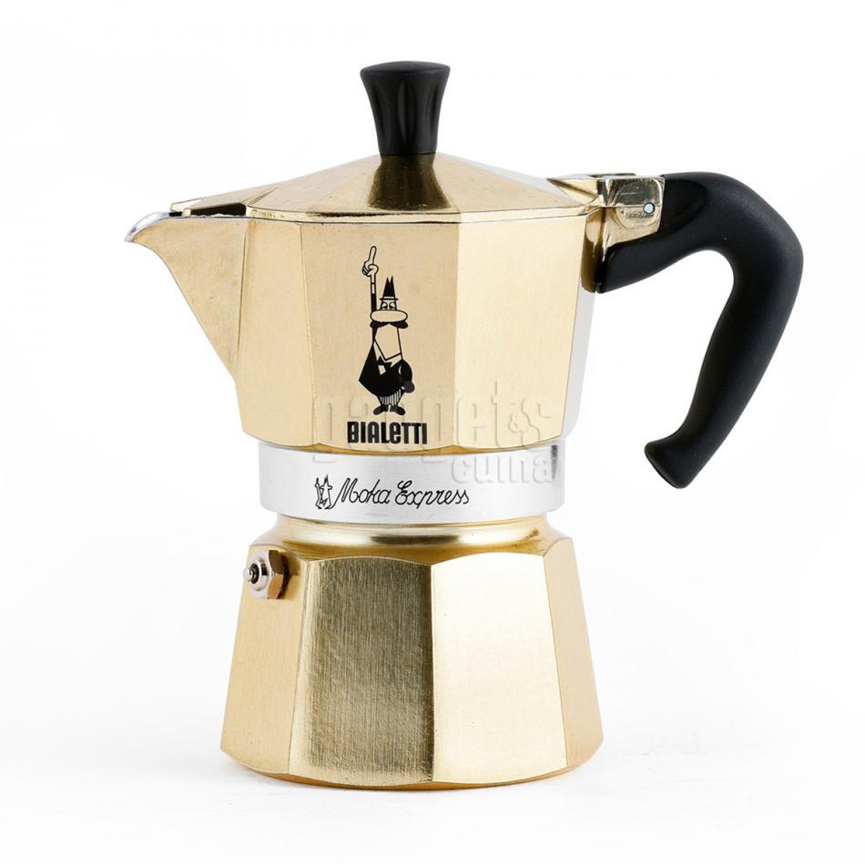 Cafetera italiana Bialetti Moka Gold oro   Gadgets & Cuina