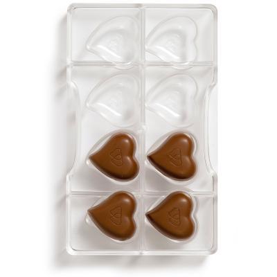 Molde policarbonato para bombones Corazón x8