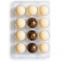 Motllo policarbonat  xocolata semiesfera x12 5 cm