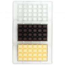 Molde policarbonato para bombones 3x Tableta 100g