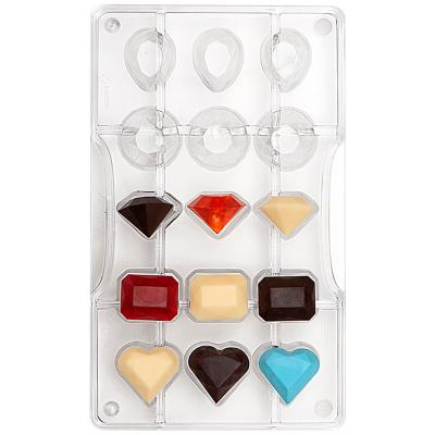 Molde policarbonato para bombones Gemas x15