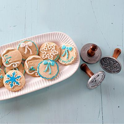 Set 3 sellos galletas Holiday Cookie Nordic Ware