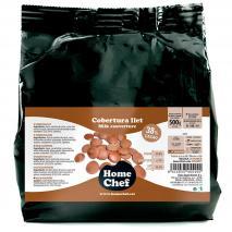 Cobertura xocolata amb llet 38% 500 gr