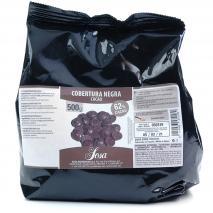 Cobertura xocolata negre 62 % 500 gr