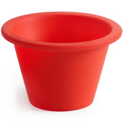 Flanera individual x6 silicona rojo